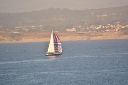 Sailboat off Monterey Bay