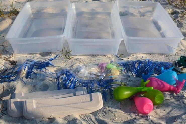 what you'll need - supplies for jellyfish races