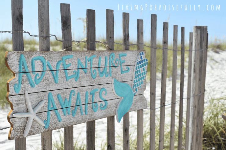 DIY Beachy Mermaid Sign - adventure awaits Living Porpoisefully