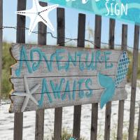 DIY Beachy Mermaid Wall Sign
