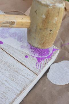 8 octopus ink sign - use mallet to splatter paint