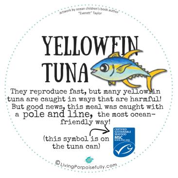 Yellowfin Tuna plate back