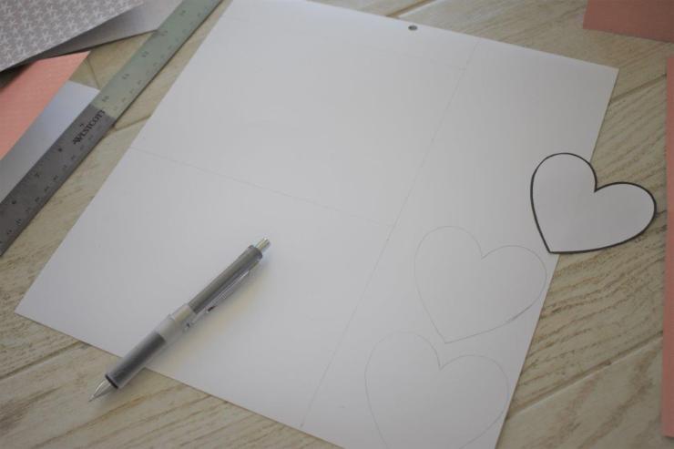 DIY Coastal Notecards - 2 draw lines to cut