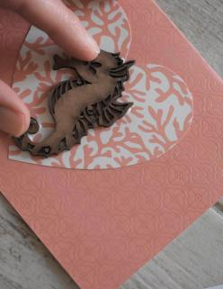 DIY Coastal Notecards - 5 glue and place sea animal b
