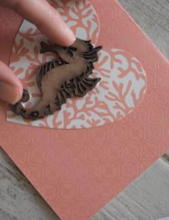 DIY Coastal Notecards - 5 glue and place sea animal b