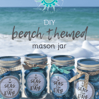 DIY Beach Themed Mason Jar