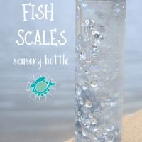 Fish Scales DIY Sensory Bottle