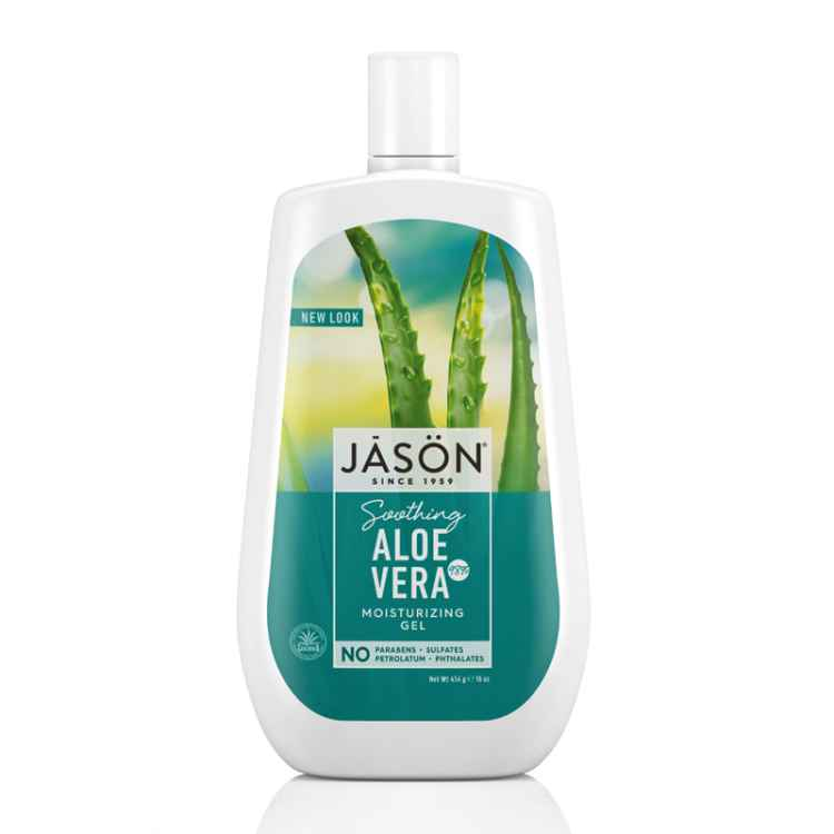 Recommended: Multi-use beauty products. Image of Jason Aloe Vera Gel bottle