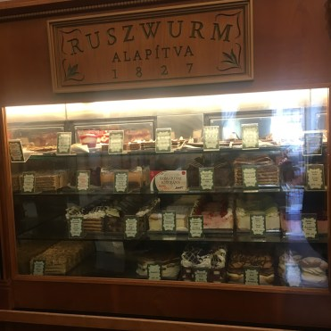48 hours in Budapest: Image of a cake display counter in Ruszwurm