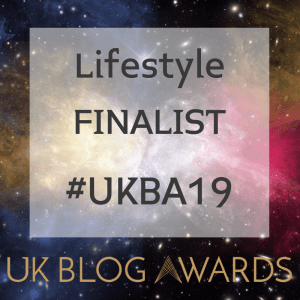 UK Blog Awards 2019 Lifestyle Finalist Badge