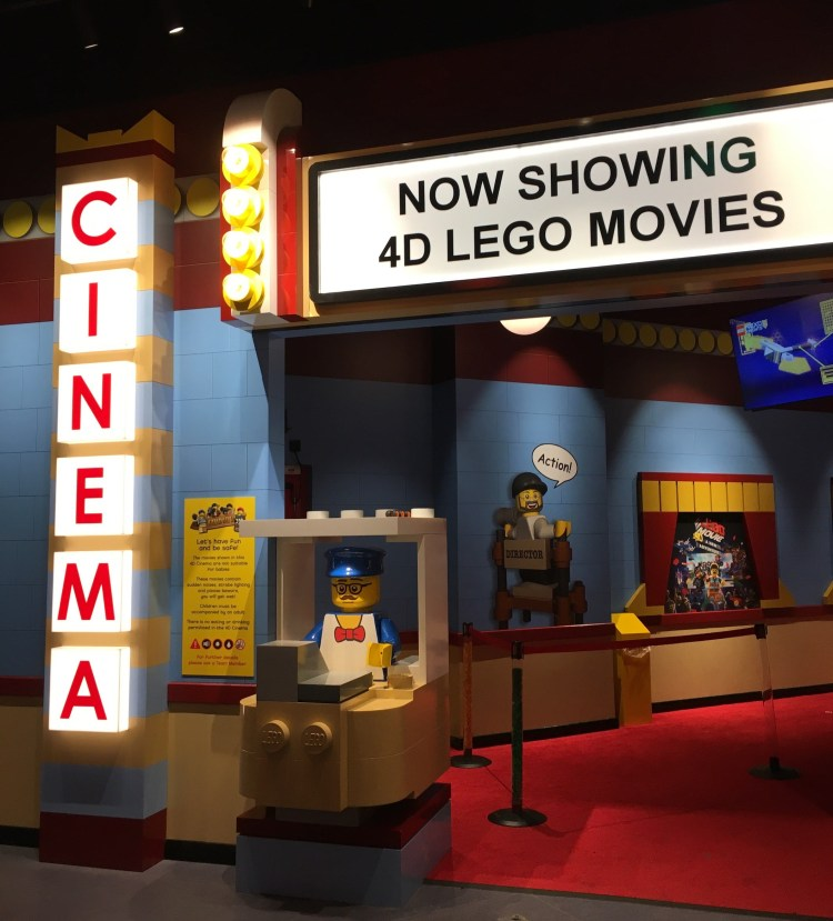 Happy Days: Legoland Discovery Centre Birmingham. Image of entrance to 4D Cinema