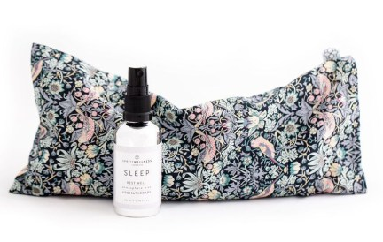 Give the gift of well-being this Mother's Day: Perfect well-being gifts for mum. Image of Spritz Wellness aromatherapy eye pillow and sleep spray