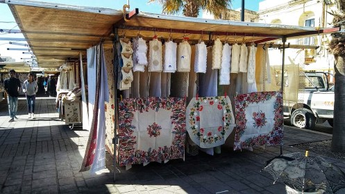 10 things you should know about Malta. Going to Malta - 10 things you should know. A lace stall in Marsaxlokk market