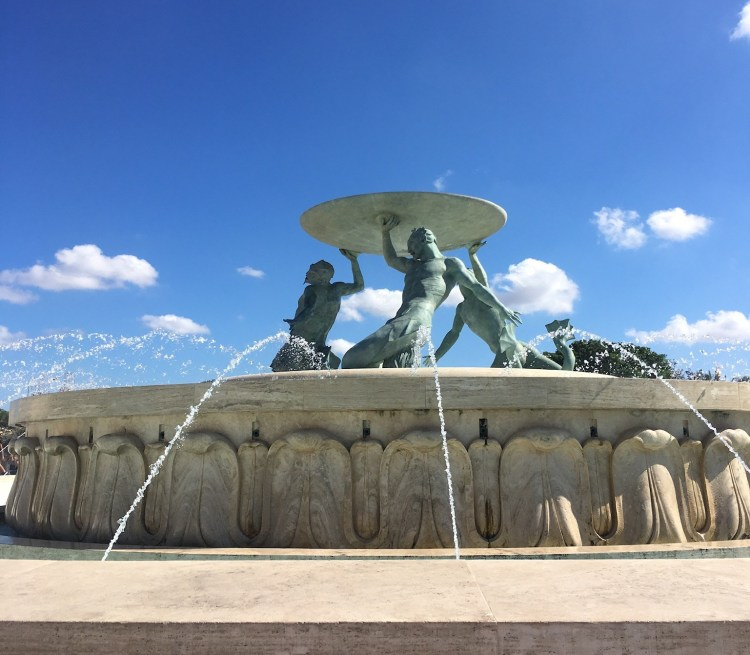 Happy Travels: Where you absolutely should go in Malta. Image of Triton Fountain