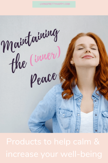 Maintaining the (inner) peace: 5 Products to help calm & increase your well-being. Help introduce some calm into your day, these products help you to relieve stress and raise your sense of well-being. Well-being products for time-stretched people. #selfcare #wellbeing #innerpeace #calmness
