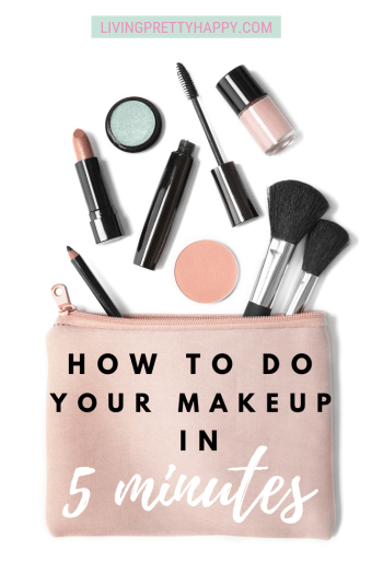 How to do your makeup in 5 minutes. 5 minute makeup rountine. makeup advice. How to do makeup quicker. Makeup when you have no time. Beauty in a hurry. #beauty #makeuptips #quickmakeup #beautyadvice