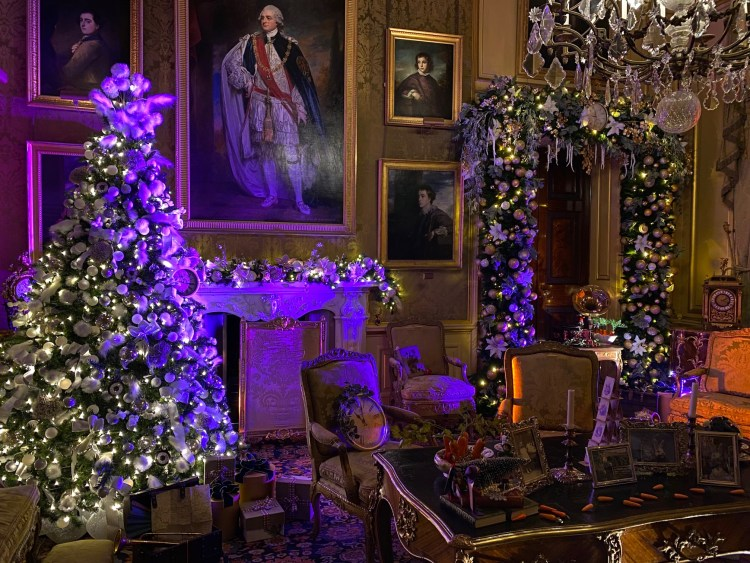 One of the rooms of Blenheim Palace decorated for the Alice in the Palace Experience