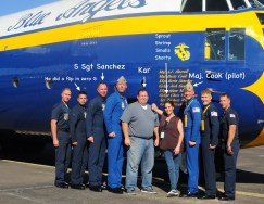 """Me and photographer Kar Hlava with the crew of """"Fat Albert"""""""