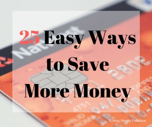 25 easy ways to save more money