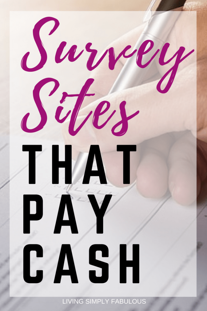 Love filling out surveys, but just don't want a gift card you won't use? Here are some of the best survey sites out there that will pay you cash either through check, PayPal, or PayPal gift card - so you can turn it into cash.