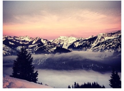 January 17th Alpental Sunset by Mary Wolcott