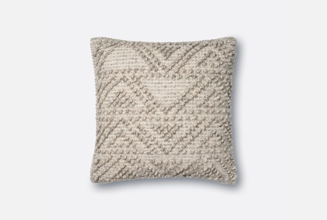 Accent Pillow-Magnolia Home Knotted Zig Zag Grey 18X18 By