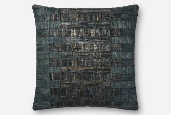 Accent Pillow-Magnolia Home Jute Teal 22X22 By Joanna