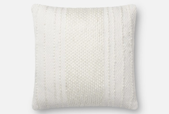 Accent Pillow-Magnolia Home Center Stripe Ivory/Ivory