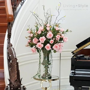 Pink Rose with Sarika Tree Branch