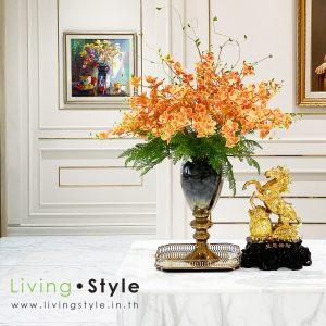 ดอกกล้วยไม้ ซิมบิเดียม สีส้ม กล้วยไม้สีส้ม สวนหลังบ้าน 1 ตกแต่งบ้าน Livingstyle ดอกไม้ปลอม ต้นไม้ปลอม ดอกไม้ประดิษฐ์ ต้นไม้ประดิษฐ์ ตกแต่งบ้าน สวนแนวตั้ง สวนหย่อม