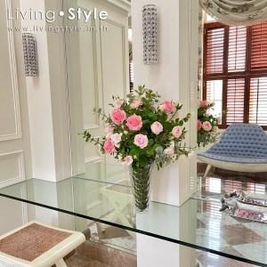 ดอกกุหลาบ สีชมพู กุหลาบชมพู กุหลาบอังกฤษ 01 ตกแต่งบ้าน Livingstyle ดอกไม้ปลอม ต้นไม้ปลอม ดอกไม้ประดิษฐ์ ต้นไม้ประดิษฐ์ ตกแต่งบ้าน สวนแนวตั้ง สวนหย่อม