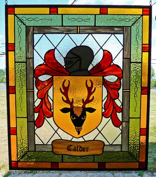 Custom stained glass window