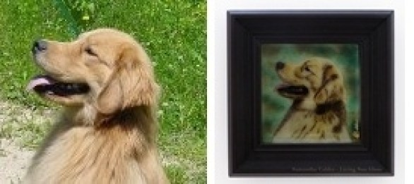 Custom Fused Glass Pet Portrait
