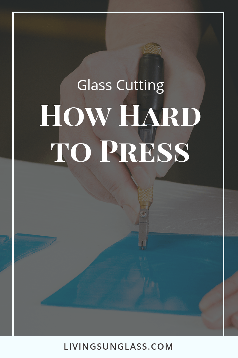 Determining how much pressure to use when cutting glass is one of the most challenging things to learn. Read this article to learn more about scoring glass, how a score works and how to practice getting the right amount of pressure. #stainedglass #glasscutting  How to Cut Glass,  How to Make Stained Glass, Stained Glass Tutorial, Beginner Stained Glass,Glass Cutting, Scoring Glass