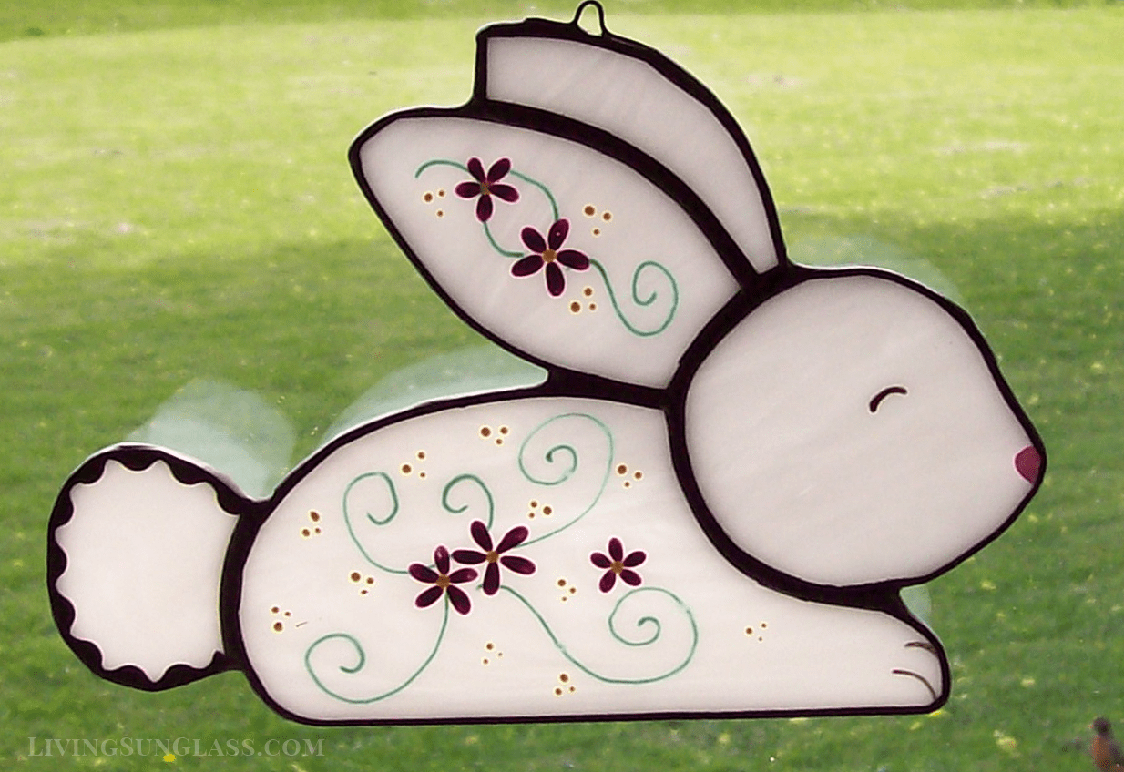 Painted Stained Glass Bunny