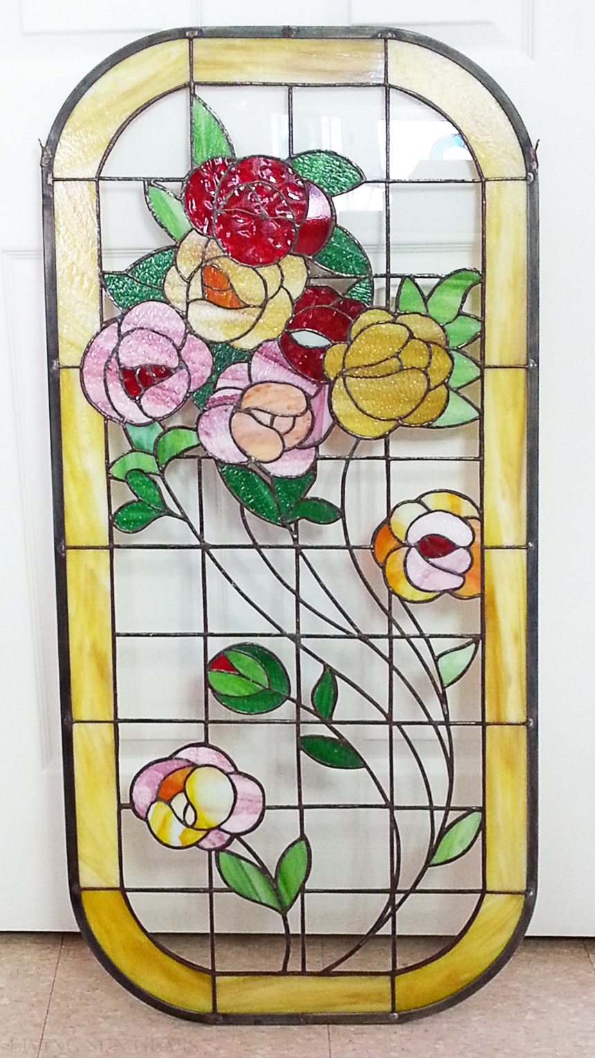 the stained glass window repaired