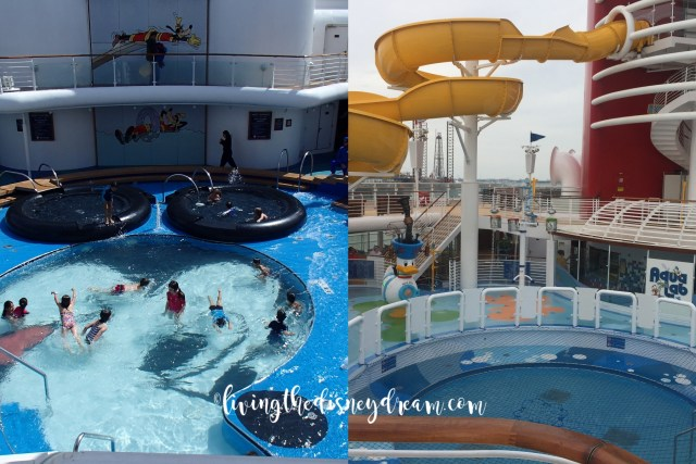 Disney Wonder Children's Area Before and After
