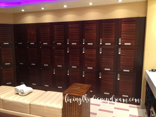 Locker's in Ladies' Room