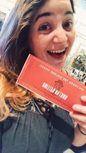 ticket selfie