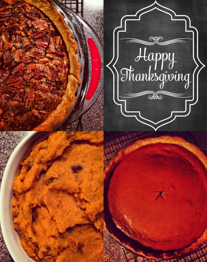 happy thanksgiving collage