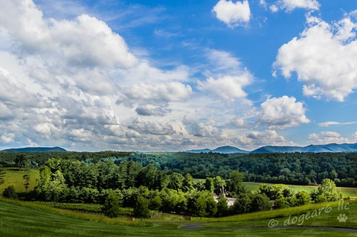 Clouds over the Smoky Mountains in Asheville, North Carolina. Taken in the late afternoon.