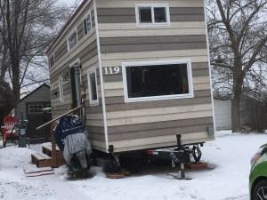 Harmony Haven tiny house in Winter