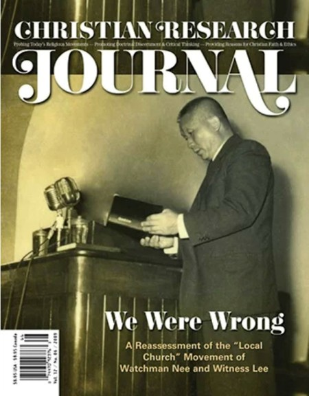 We Were Wrong - Christian Research Institute (the Christian Research Journal)