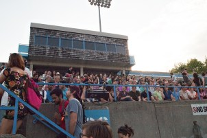Lamport Stadium audience.