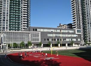 Athletic field at North Toronto Collegiate.
