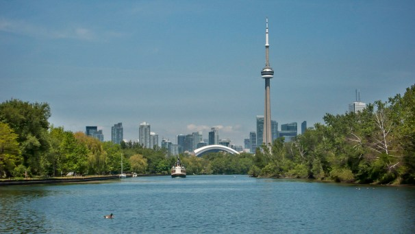 Toronto as seen from the Island.