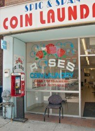 Roses coin laundry on St. Clair W.