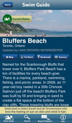 Bluffers swim guide