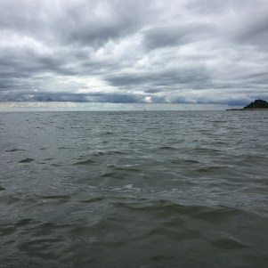 Inauspicious skies over Lake Ontario.