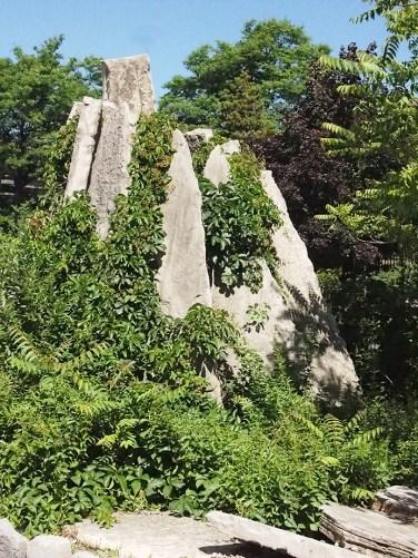 Craggy mountain garden feature at JCCC.